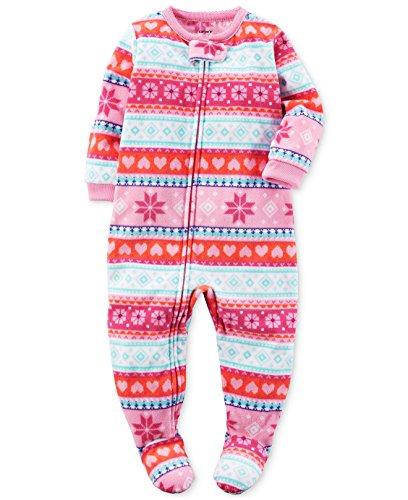 c974b2a706c4 Blanket Sleepers – Carter's Baby Girls' 1-Piece Footed Fleece Pajamas Pj's  Pink Winter 2T