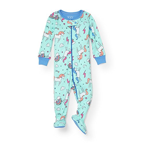 66f11eeef5 Blanket Sleepers – The Children s Place Baby Little Girls  Unicorn  Stretchie Pajamas